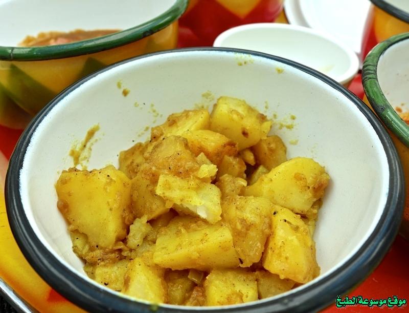 طريقة عمل حمسة بطاط لذيذة من وصفات الحمسات اللذيذه للريوق وللفطور وللعشاء-homemade arabic breakfast ideas food recipes