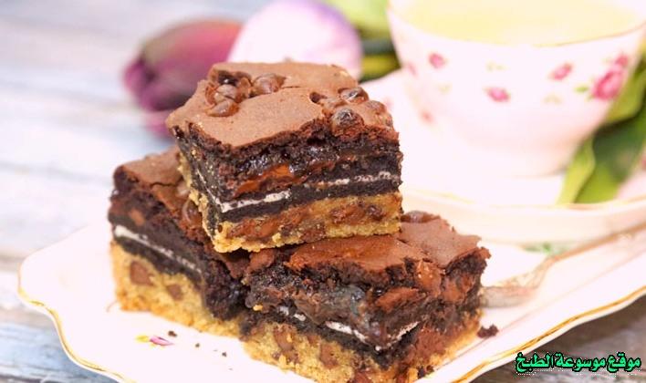 صورة طريقة عمل كوكيز براونيز بالأوريو لذيذ سريع وسهل pictures arabian cookies recipes in arabic