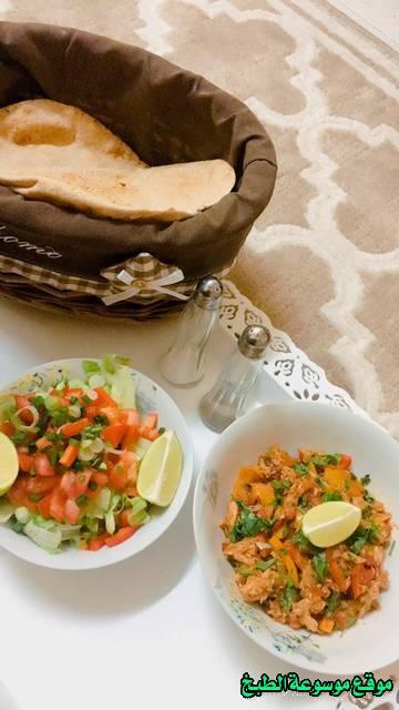 طريقة عمل حمسة التونه المكشنه لذيذة من وصفات الحمسات اللذيذه للريوق وللفطور وللعشاء-homemade arabic breakfast ideas food recipes