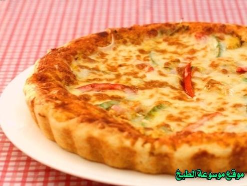اسهل طريقة وصفة عمل بيتزا فاهيتا الدجاج الساخنه في البيت من وصفات طريقة انواع البيتزاء بالصور والمقادير-how to make arabic pizza recipe