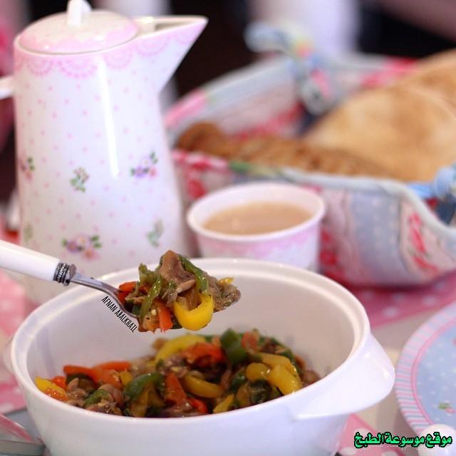 طريقة عمل حمسة المشروم لذيذة من وصفات الحمسات اللذيذه للريوق وللفطور وللعشاء-homemade arabic breakfast ideas food recipes