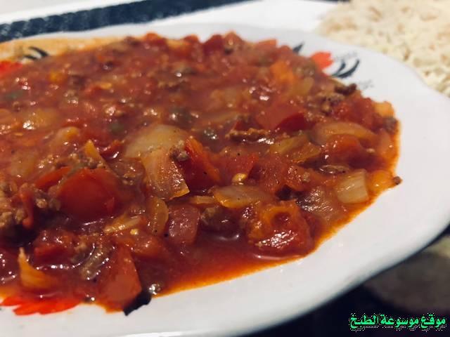 طريقة عمل حمسة قلاية طماطم بندورة باللحمة لذيذة من وصفات الحمسات اللذيذه للريوق وللفطور وللعشاء-homemade arabic breakfast ideas food recipes