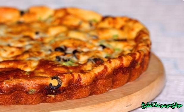 طريقة وصفة عمل فطيرة البيتزا السائله بالصور والمقادير