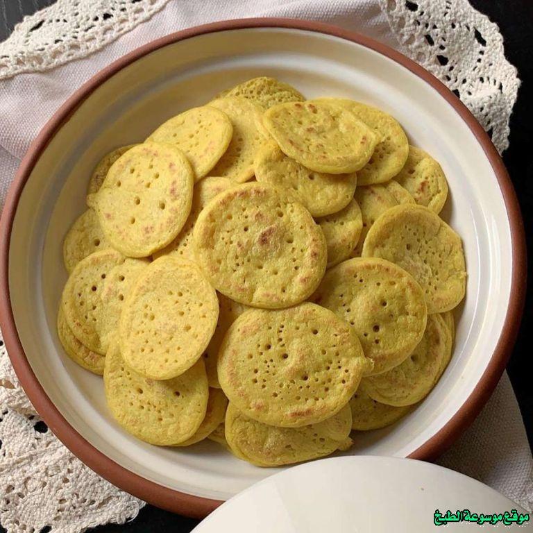 al massabeb recipes in arabic-طريقة عمل المصابيب بالشوفان عبير العميرة وتسمى المراصيع - المراقيش - المصابيب - الرغفان - مراهيف
