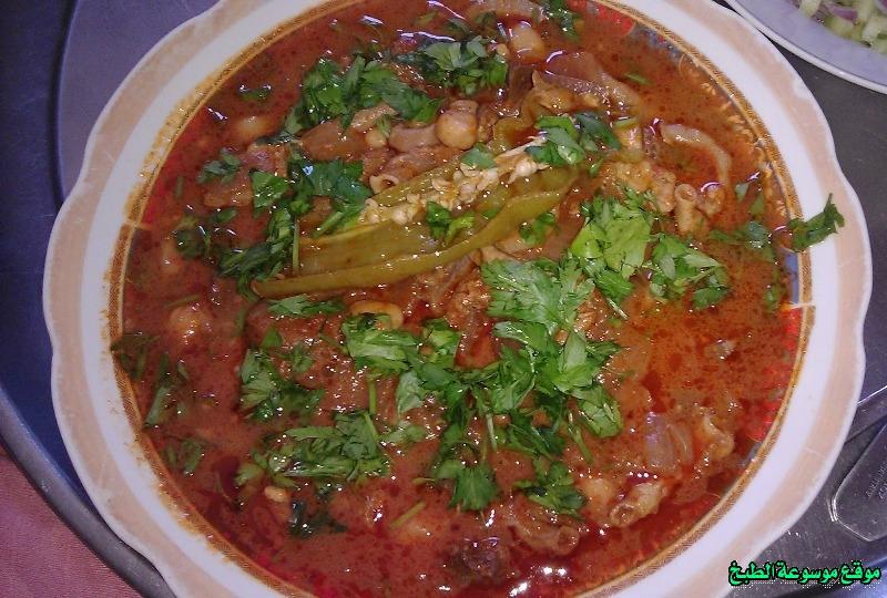 طريقة عمل الشمنكة التونسية أكلة تونسية شعبية تقليدية بالصور-traditional food recipes cuisine tunisienne recette