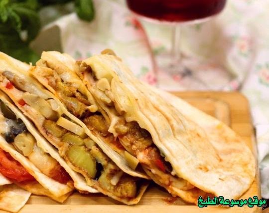 -sandwich recipe-طريقة عمل تورتيلا بالحشوات بالصور خطوة خطوة