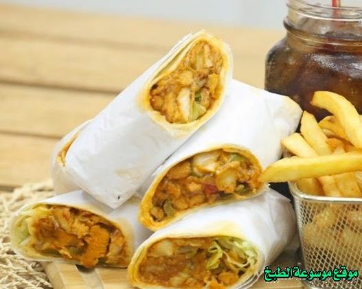 -sandwich recipe-طريقة عمل ساندوتش فاهيتا الدجاج فروحة الامارات بالصور خطوة خطوة