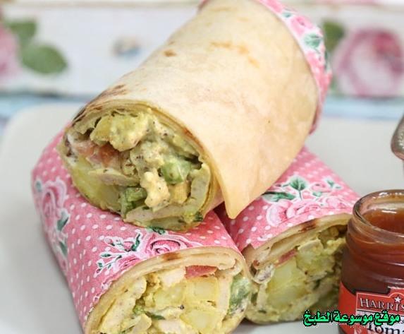 -sandwich recipe-طريقة عمل ساندويتش شاورما الدجاج بالصوص فروحه الامارات خطوه خطوه بالصور