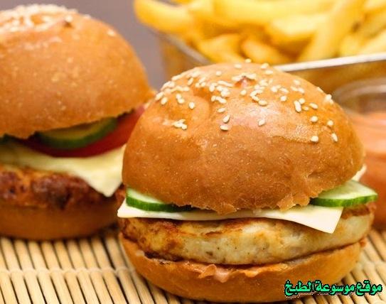 -sandwich recipe-طريقة عمل ساندويش برجر دجاج فروحه الامارات خطوه خطوه بالصور
