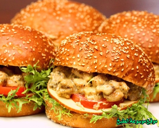 -sandwich recipe-طريقة عمل همبرجر دجاج بالأعشاب الإيطالية فروحه الامارات خطوه خطوه بالصور