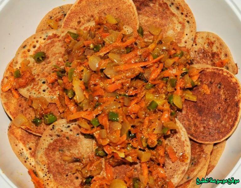al massabeb recipes in arabic-طريقة عمل مصابيب أم نجد وتسمى المراصيع - المراقيش - المصابيب - الرغفان - مراهيف
